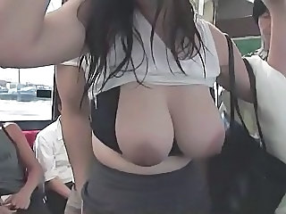 Big Tits Bus Chubby  Natural Public