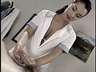 Babe Cute European Handjob Italian  Nurse Uniform Vintage