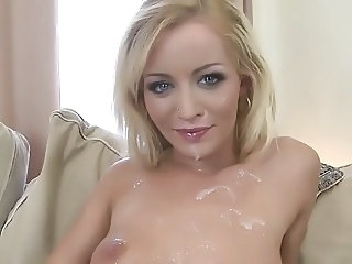 Babe Blonde Cumshot Facial Cute