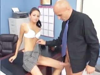 Daddy Office Old and Young Skinny Student Teacher Teen