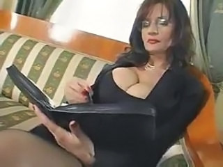 Amazing Big Tits Glasses Mature Teacher