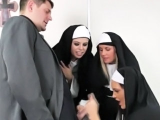 Groupsex Handjob Nun Uniform