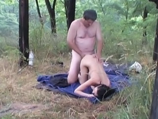 Daddy Doggystyle Old and Young Outdoor Teen