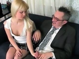 Blonde Daddy Handjob Old and Young Russian Teacher Teen Wild