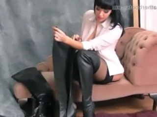 Fetish Latex Legs Leather