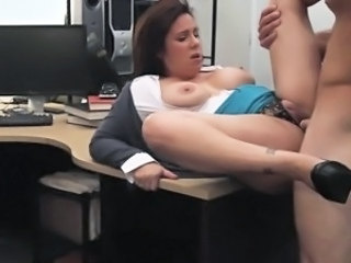 Amateur Clothed  Office Huge