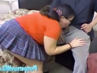 Asian Blowjob Chubby Clothed Pornstar Skirt