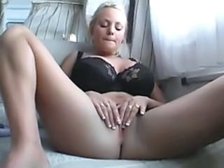 Amateur Blonde Car European German Masturbating  German