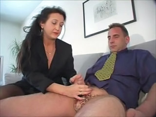 European German Handjob Mature Mom Secretary German