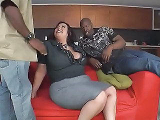 Chubby Interracial  Threesome