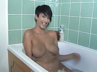 Bathroom Big Tits British Brunette European  Natural