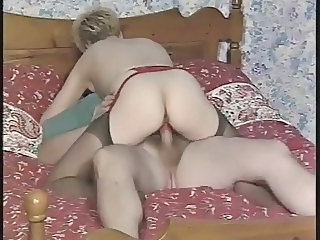 Blonde British European  Riding Stockings British