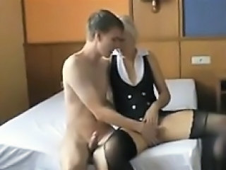 Amateur Blonde Mature Mom Old and Young Stockings