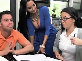 Amazing  Old and Young Student Teacher Threesome Stepmom