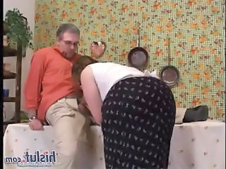 Blowjob Chubby Clothed Kitchen Wife