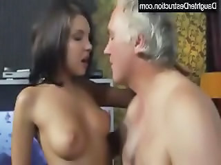 Cute Daddy Daughter Old and Young Small Tits Teen Daddy