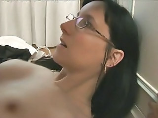 Amateur European French Glasses  Small Tits