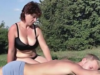 Mature Mom Natural Old and Young Outdoor Swedish