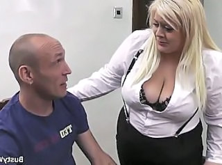 Big Tits Blonde  Secretary Stockings Boss