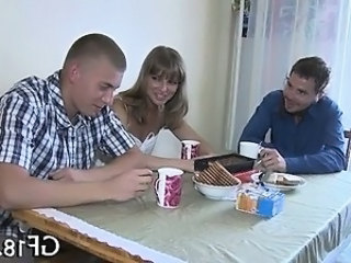 Cuckold Cute Girlfriend Kitchen Russian Teen
