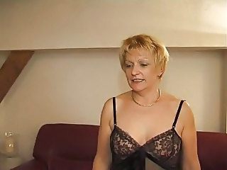 Blonde European French Mature Mom French