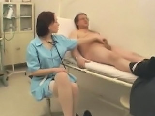 Daddy Doctor Handjob Old and Young Small cock Teen Uniform