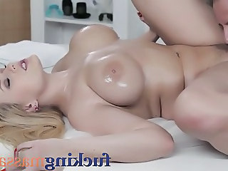Babe Big Tits Blonde Cute Massage Natural Oiled Teen Boobs
