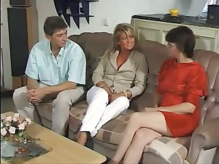 European German Mature Threesome Wife German