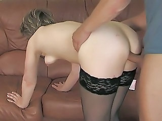 Doggystyle Mature Mom Old and Young Russian Stockings