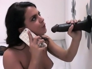 Gloryhole Handjob Interracial Pornstar
