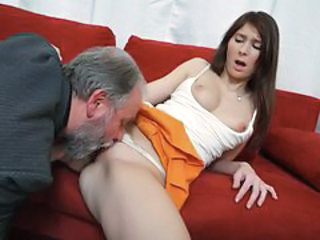 Clothed Daddy Daughter Licking Old and Young Teen