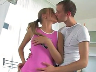Kissing Kitchen Sister Teen