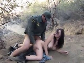Amazing Army Big Tits Brunette Hardcore  Outdoor
