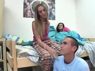 Student Teen Threesome
