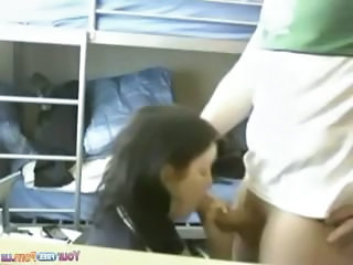 Amateur  Blowjob Clothed Girlfriend Homemade Student Dorm