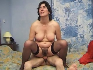 Brunette European French Hairy Mature Riding  Wife French