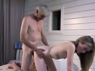 Amazing Cute Daddy Daughter Doggystyle Old and Young Teen