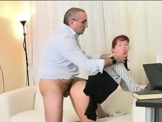 Clothed Daddy Old and Young Redhead Student Teacher Teen Wild