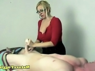 Blonde Glasses Handjob  Ass Big Cock Handjob Cock Milf Ass Big Cock Milf Big Cock Handjob