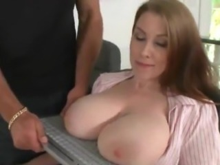 Big Tits  Natural Office Secretary