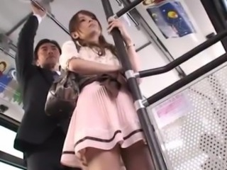 Amazing Asian Bus Cute  Public Skirt