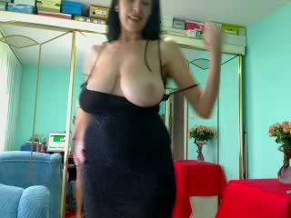 Amazing Big Tits Brunette  Natural  Stripper Webcam Wife Boobs