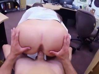 Amateur Ass Clothed Office Riding Amateur
