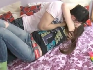 Girlfriend Jeans Kissing Teen