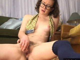 Glasses Hairy Masturbating  Small Tits Amateur