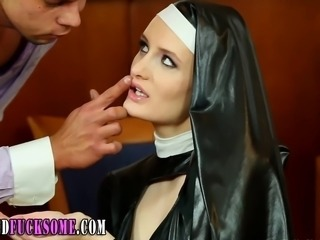 Babe Cute Latex  Nun Uniform