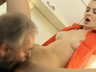 Babe Cute Daddy Daughter Licking Old and Young Small Tits Teen