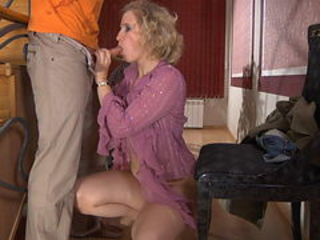 Blowjob Clothed Mature Mom Old and Young