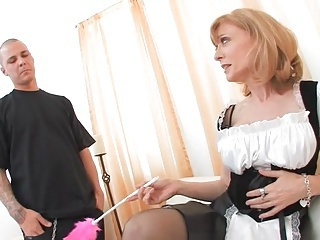 Maid Mature Mom Old and Young Uniform Boobs Old And Young Maid + Mature