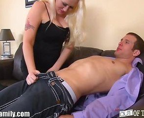 Big Tits Family Lingerie Mature Mom Old and Young Son Caught